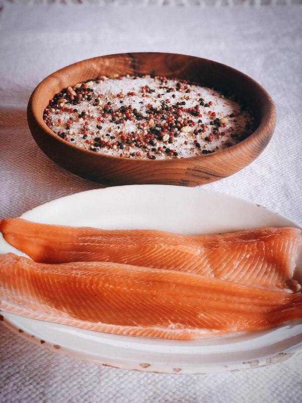Trucha curada procedente de la Casa dels Peixos