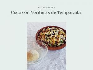 Coca de Verduras con masa de harina de espelta ecológica
